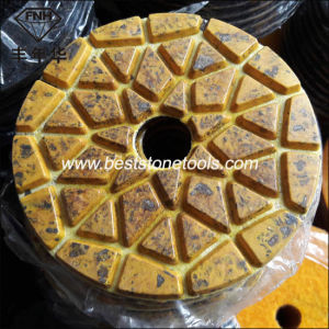 Metal Hybrid Abrasive Diamond Flexible Polishing Pad for Stone Concrete