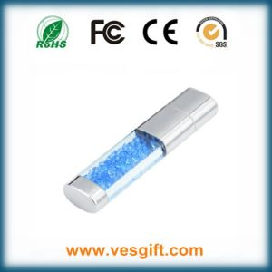 Luxury Gift Jewelry Crystal USB Memory Stick with LED Light pictures & photos