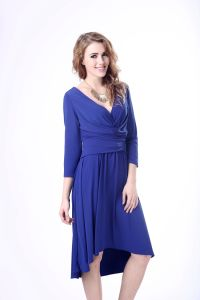 OEM Irregular Hem Elegant Long Sleeve Evening Dresses pictures & photos