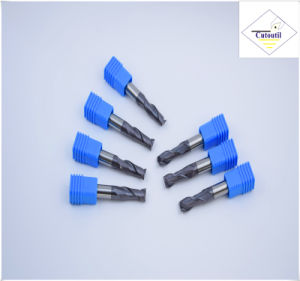 Cutoutil HRC55 Tialn Coating Long R1.0*4*4D*75L*2f/4f for Steel CNC Machining Part   Ball Nose End Mills pictures & photos