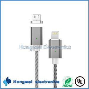 Universal Phone 2 in 1 Magnetic OTG USB Cable for Android and iPhone pictures & photos