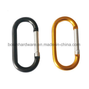 Oval Shaped Metal Carabiner Clip Keychain pictures & photos