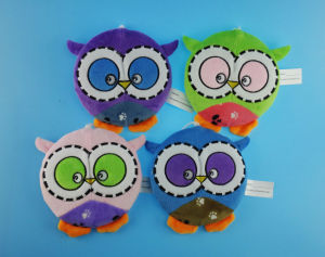 Non-Stuffed Cute Owl Frisbee with Squeaker or Beeps for Pets pictures & photos
