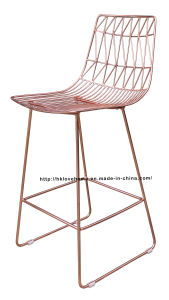 Modern Replica Classic Metal Dining Side Wire Copper Bar Chairs pictures & photos