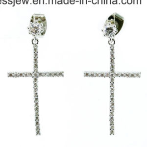 Popular Manufacture Supply Silver Cross Necklace (N6502) Made in China pictures & photos