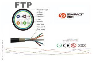 Frame Resistant FTP CAT6 Network Cable pictures & photos