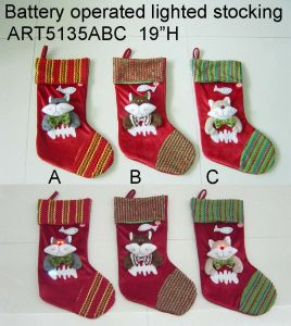 Lighting up Christmas Cat Stocking LED Lights, 3asst. pictures & photos