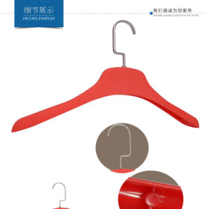 Plastic Rubbered Non Slip Womens Top Clothes Display Hangers pictures & photos