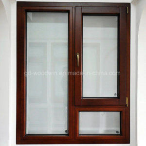 Casement Solid Wooden Double Glass Window with German Brand Fitting pictures & photos