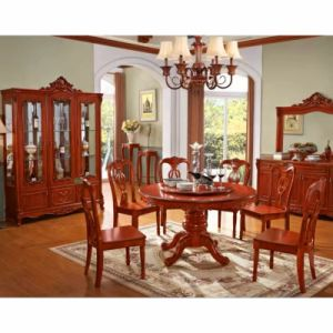 Dining Table with Wine Rack for Dining Room Furniture pictures & photos