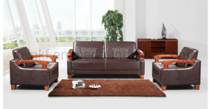Commercial Sofa Furniture Office Sectional Genuine Leather Sofa (HX-CF025) pictures & photos