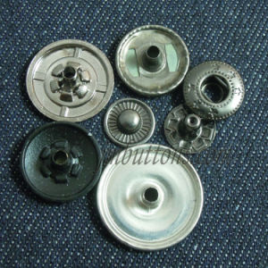 Matt Black Plain Metal Snap Button for Clothing pictures & photos