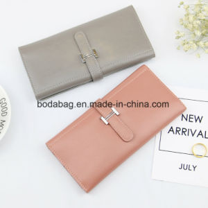 No MOQ Brand Genuine Leather Women Fashion Female Candy Color Purse Lady Multi-Function Zipper Clutch Wallet as Small Accessory for Wholesale (BDX-171003) pictures & photos