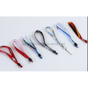 Promotional Cheap Custom Printed Poyester Neck Lanyard in Short Straps pictures & photos
