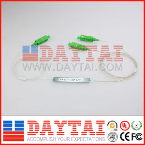 FTTH Sc/APC 0.9mm Fiber Optical Single Mode PLC Splitter 1*2 pictures & photos