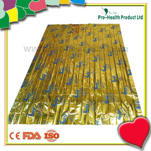 Camping Outdoor Rescue Survival Space Aluminum Foil Emergency Blanket(pH04-007) pictures & photos