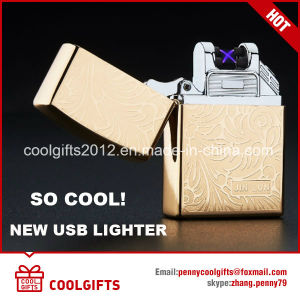 Windproof Metal USB Charning Lighters Double Arc Electric Induction Lighter pictures & photos