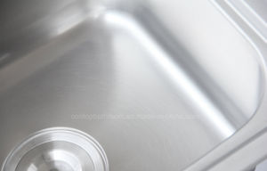 Topmount Single Bowl Stainless Steel Kitchen Sink with Drainer Board pictures & photos