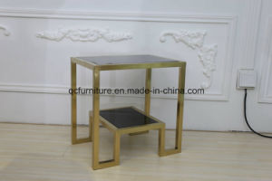 Hot Sale Side Table Mirrored Glass Corner Table pictures & photos