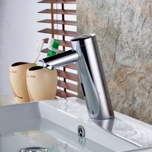 FLG Single Cold Auto Touch Sensor Bathroom Basin Faucet pictures & photos