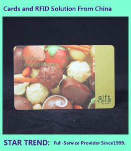 Spot Varnished PVC Card with Magnetic Stripe for Snack Bars pictures & photos