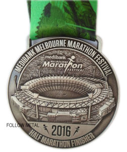 Award Medal for Half Marathon Festival, Finisher, 3D Logo