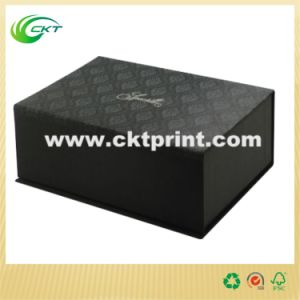 Handmade Paper Box with Silver Foil Stamping (CKT-CB-69)