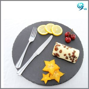 High Quality Square Shape Natural Dinner Slate Plate pictures & photos