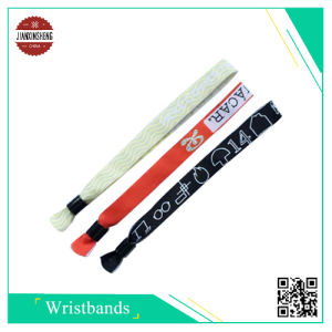 Popular Promotional Woven Wristband for One Time Used pictures & photos