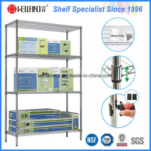 NSF 4 Layers Chrome Metal Exhibition Display Wire Shelf Rack pictures & photos