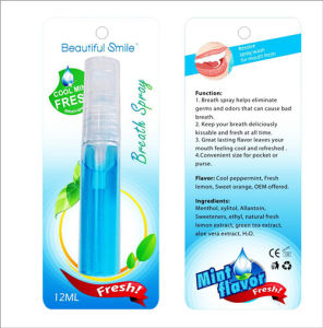 Teeth Whitening Oral Accelerator Mint Flavor Mouth Fresher Spray pictures & photos