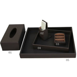 Leather Product Coffee Straw Mat Series Amenities Set pictures & photos