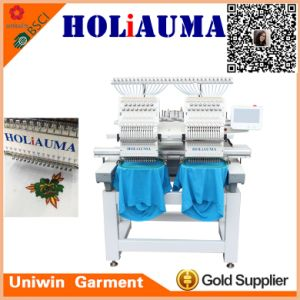 Tajima Type Chinese Supplier Multi-Functions Double 2 Head Computer Embroidery Machine with Low Price pictures & photos
