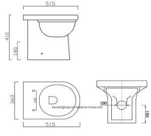 Toilet Pan Wash Down Toilet Seat Btw16006 pictures & photos