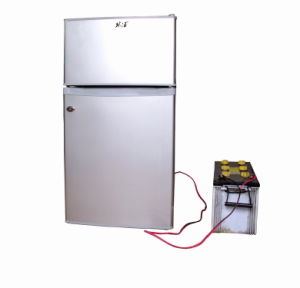 Purswave 98L DC12V24V Solar Fridge Vehicle Refrigerator Double Door pictures & photos