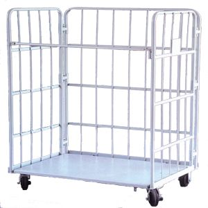 Wire Mesh Cage Storage with Wheel (SLL07-L005) pictures & photos