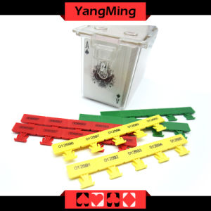 Baccarat Casino Poker Table Games Dealer Holder Dedicated Plastic Seurity Seal with Three Color Ym-Lp01 pictures & photos