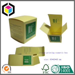 Two Pieces Collapsible Gold Cardboard Paper Package Box pictures & photos