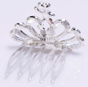 Fashion Crystal Rhinestone Baby Kids Princess Birthday Party Girl Women Hair Comb Gift Tiara Crown pictures & photos