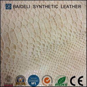 High Quality Snake PVC Garment Leather pictures & photos