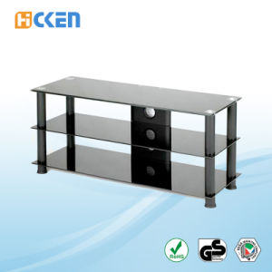 Hot Sell Cheap Glass MDF Furniture Corner LED LCD Modern TV Stand pictures & photos