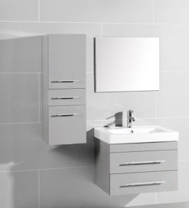 Light Grey MDF Bathroom Cabinet with Side Cabinet pictures & photos