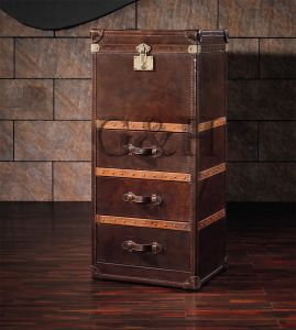 Vintage Leather Cabinet pictures & photos