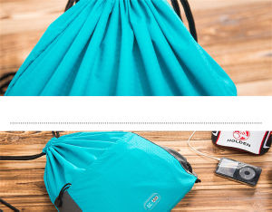 Nylon Drawstring Gym Backpack Bags for Men and Girls (73) pictures & photos