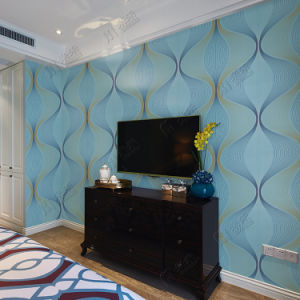 Made in China Good Quality Vinyl Wall Paper New 3D Design Cheap Wallpaper Guangzhou pictures & photos