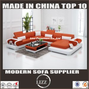 Modern Popular U Shape Living Room Leather Sectional pictures & photos