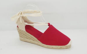 Women′s Fashion Espadrille Wedge Sandal pictures & photos