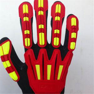 Sandy Nitrile Finished Poly/Lycra Gloves with TPR Sewing pictures & photos