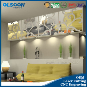 Olsoon Custom Design Acrylic Home Wall Decoration Decorative Mirror Decor pictures & photos