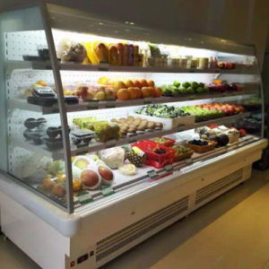 Vertical Open Display Cooler Commercial Refrigerator for Supermarket pictures & photos